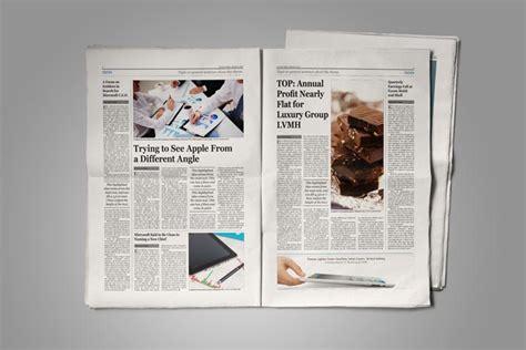 style newspaper template stockindesign