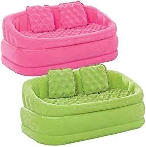 intex flocked settee air sofa lounger chair cafe seat pink co uk