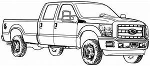 ford truck coloring pages 01 coloring pages coloring With 1953 ford f250 4x4