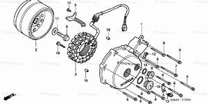 Honda Motorcycle 2003 Oem Parts Diagram For Left Crankcase