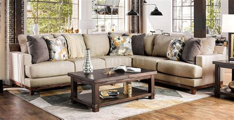 Stain Resistant Sofa by Lazzaro Sectional Sofa Sm1115 In Beige Stain Resistant Fabric