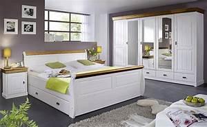Bett Weiß 180x200 Mit Bettkasten : massivholz bett 180x200 holzbett mit bettkasten kiefer massiv wei honig ~ Bigdaddyawards.com Haus und Dekorationen
