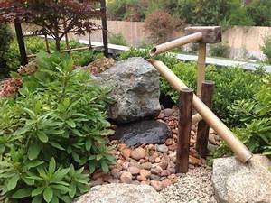 Japanischer Garten Gestaltungsideen : traditioneller japanischer garten mit bambus wasserspiele brunnen haus und garten pinterest ~ Pilothousefishingboats.com Haus und Dekorationen