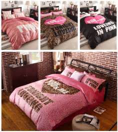 victoria s secret pink bedding set queen scripto