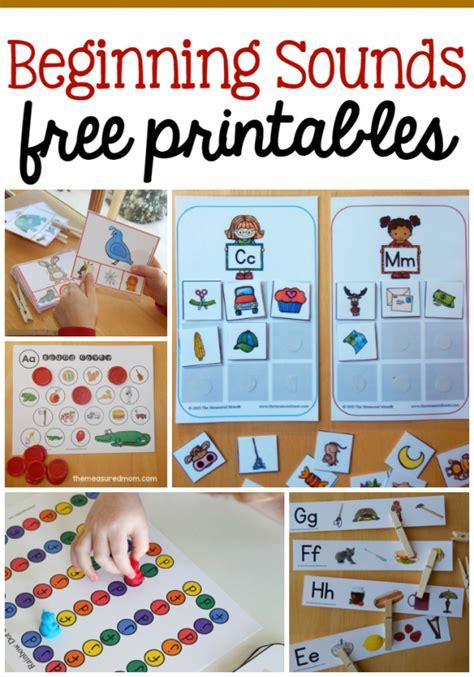 Beginning Sounds Free Printables