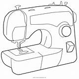 Sewing Coloring Machine Template Printable Getcolorings sketch template