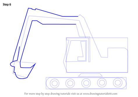 learn   draw  cartoon excavator construction step