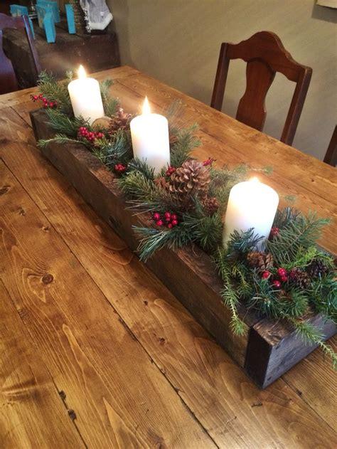 Weihnachtliche Tischdeko Holz by Rustic Wooden Box Centerpiece Ideas