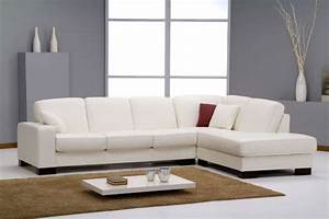 canap d39angle en cuir blanc avec couchage sofamobili With tapis shaggy avec achat canape cuir en italie