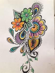 Color tattoo filigree | Tattoos | Pinterest