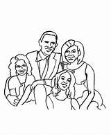 Obama Barack Coloring Pages Presidents Print President Printable Printables Usa Go sketch template