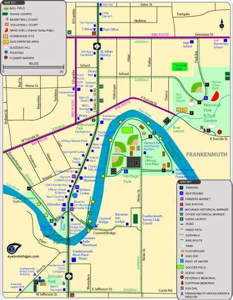 maps of attractions parks trails restaurants more in