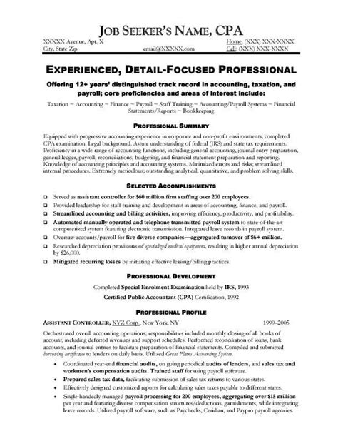 Accountant Resume by Professional Accountant Resume Exle Http Topresume