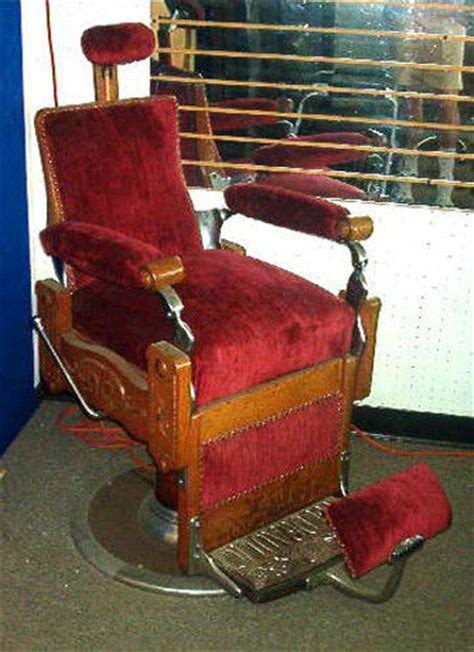 barber chair ebaycomau koch antique wood framed barber chair in working condition