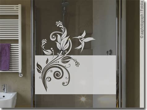 Sichtschutzfolie Fenster Jugendstil by Sichtschutz Ornament Kolibri Fensteraufkleber