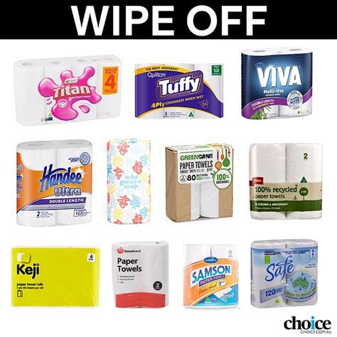 choice reveals  top  paper towel brands daily