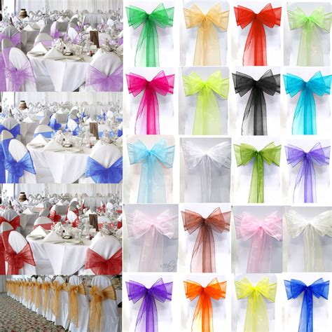 organza chair sashes wedding party reception banquet bows home decoration ebay