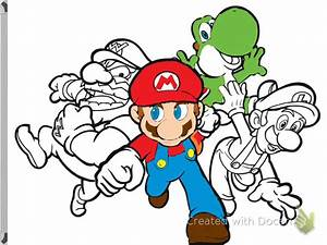 Mario And Luigi Drawing Mario Yoshi Luigi And Warrior ...
