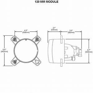 Hella Hl68133 120mm Module  Projector Fog Lamp