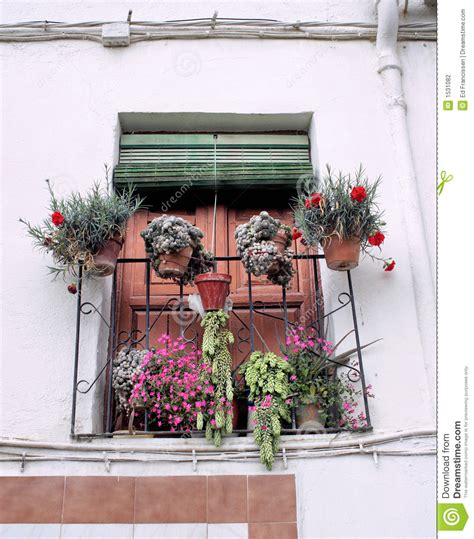 spanish balcony stock photography image