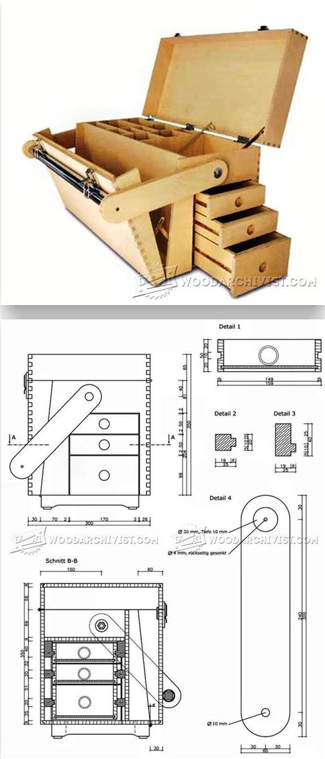 plywood tool chest plans workshop solutions projects
