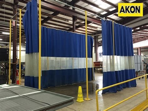 industrial free standing curtains akon curtain and