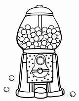 Gumball Machine Coloring Gum Bubble Pages Printable Template Coloringcafe Pdf Drawing Worksheet Sheets Sheet Templates Colouring Clipartmag Sketch Patterns Clipart sketch template