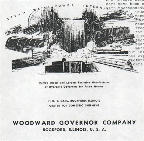price list historical facts woodward governor