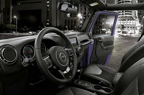 purple jeep interior jeep launched wrangler night eagle limited edition only