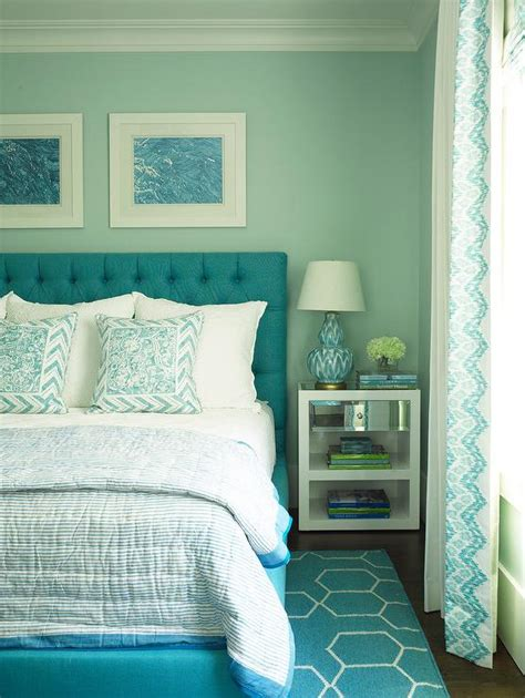 Decorating Ideas For Turquoise Bedroom by Turquoise Blue Bedroom With Blue Brush Strokes L