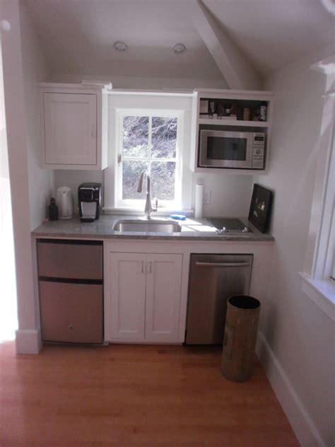 studio  garage kitchenette transitional kitchen
