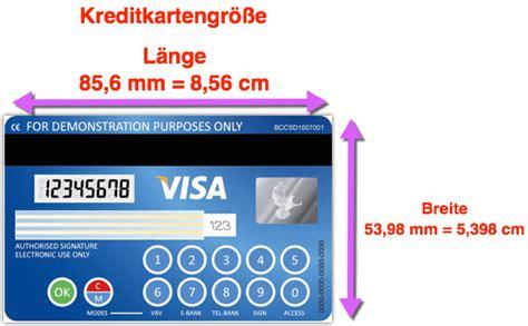 kreditkarte welche laenge breite hoehe techfrage