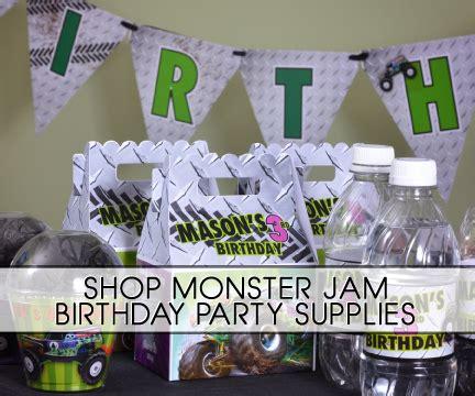 monster truck jam party supplies monster jam grave digger truck party supplies