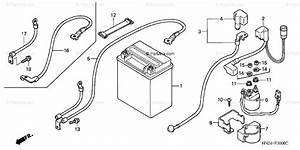 Honda Atv 2003 Oem Parts Diagram For Battery  Trx500fa U0026 39 01