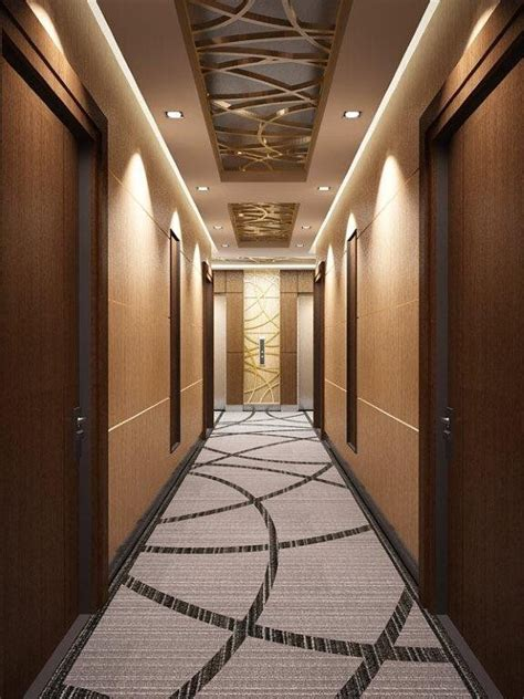 corridor carpet communal space ceiling design false