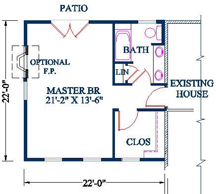 master bedroom and bathroom floor plans master bedroom addition plan vaulted ceiling