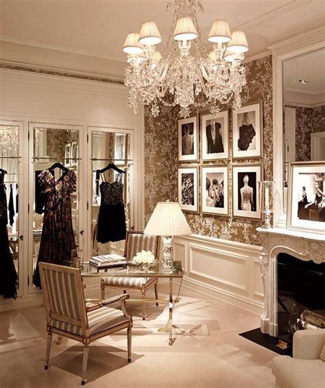 feminine luxurious classic accents walk in closet design