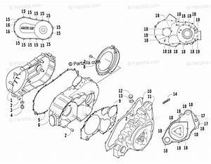 Arctic Cat Atv 2007 Oem Parts Diagram For Clutch  V Magneto Cover Assembly