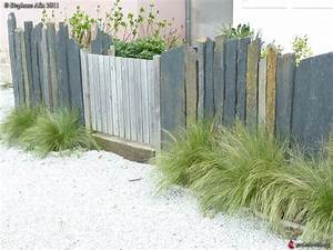 Barre De Schiste : cl ture en barres de schiste sainte marine parochetus les galeries photo de plantes de ~ Melissatoandfro.com Idées de Décoration