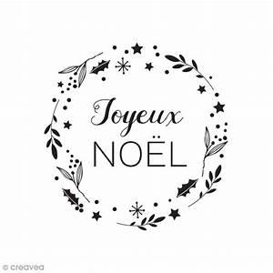 Noel Noir Et Blanc : tampon bois couronne joyeux no l 5 5 x 3 5 cm tampon bois creavea ~ Melissatoandfro.com Idées de Décoration