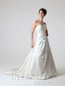 eternity d5141 a line wedding dress with beaded neckline With ivory satin wedding dress