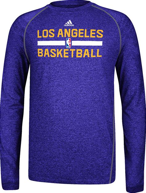 Los Angeles Lakers Heather Purple Climalite Practice Long ...
