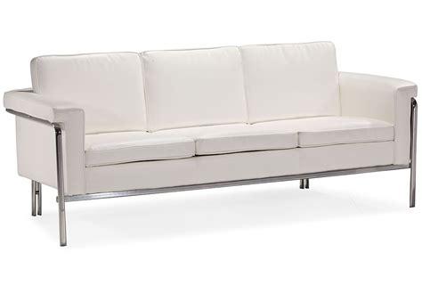 Contemporary White Sofa by Modern White Sofa White Contemporary Sofa 59 On