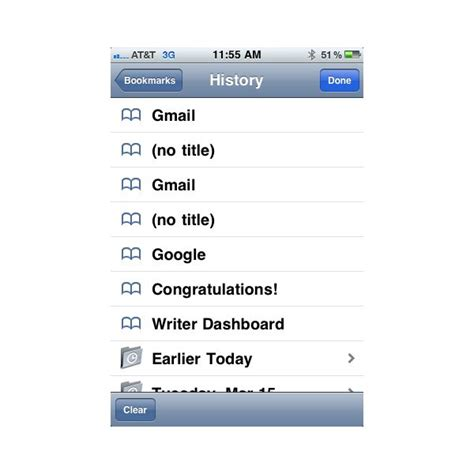 search history on iphone clear search history iphone safari
