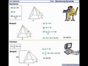 Volumen Berechnen übungen 6 Klasse : pyramide oberfl cheninhalt volumen erl uterung youtube ~ Themetempest.com Abrechnung