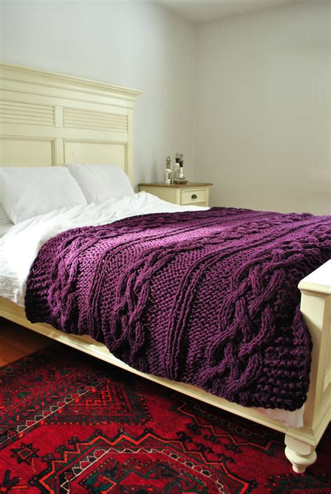 Cable Knit Coverlet by Chunky Cable Knit Throw Blanket In By Ckitschyknits