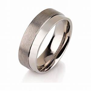 brushed titanium band titanium wedding ring titanium With mens brushed wedding rings