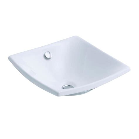 kohler vessel sink faucets kohler escale fireclay vessel sink in white with overflow