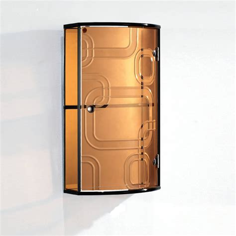 Glass Bathroom Cabinets by Gold Glass Cabinet With Two Tiers