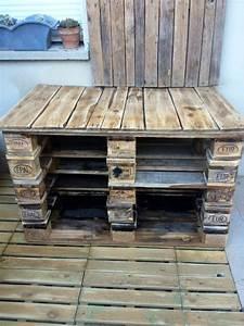 Meuble Pour Plancha : d tournons ensemble des palettes en terrasse et salon de ~ Melissatoandfro.com Idées de Décoration